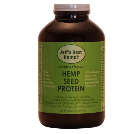 Raw Organic Finest Grind Hemp Seed Protein 16oz - product bottle
