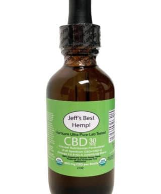 Hardcore organic cbd 30 mg per serving 600 per bottle