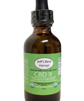 Hardcore organic cbd 70 mg per serving 1400 per bottle